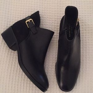 NEW! Cole Haan Leather/Suede Booties - Size 6